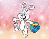Rabbit searching easter eggs