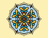 Coloring page Symmetric mandala painted byLornaAnia