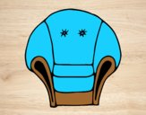 Coloring page Armchair painted byLornaAnia