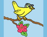 Coloring page Bird painted byLornaAnia