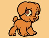 Coloring page Happy puppy painted byLornaAnia