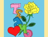 Coloring page I love you II painted byLornaAnia