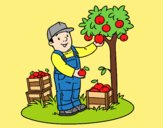 Coloring page A farmer painted byLornaAnia
