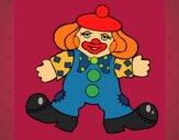 Clown with big feet