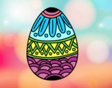 Easter egg decorated with stamping