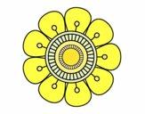 Mandala in flower shape