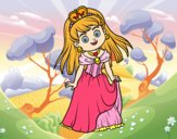 Coloring page Princess charming painted bySant