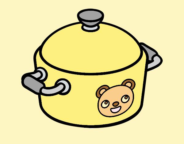 A cooking pot
