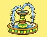 Coloring page Fountain painted byLornaAnia