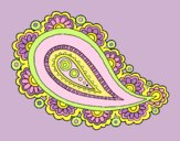 Coloring page Mandala teardrop painted byLornaAnia