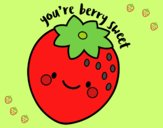 Coloring page You're berry sweet painted byLornaAnia