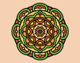 Coloring page Mandala for mental relaxation painted byLornaAnia