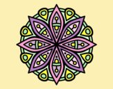 Coloring page Mandala for the concentration painted byLornaAnia