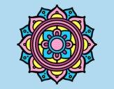Coloring page Mandala greek mosaic painted byLornaAnia