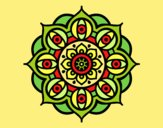 Coloring page Mandala open eyes painted byLornaAnia