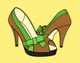 Coloring page Shoes with bow painted byLornaAnia
