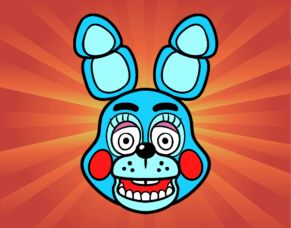 Bonnie Toy Face from Five Nights at Freddy's