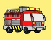 Coloring page A fire truck painted byANIA2