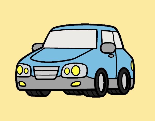 Coloring page An urban car painted byANIA2