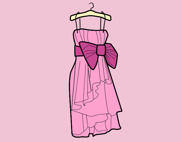 Coloring page Evening dress painted byANIA2