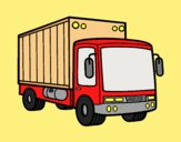 Coloring page Merchandise truck painted byANIA2