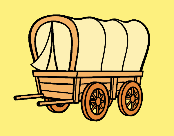 Coloring page Old west car painted byANIA2