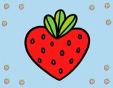 Coloring page Strawberry heart painted byLornaAnia