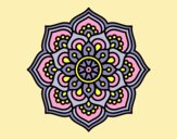 Coloring page Mandala concentration flower painted byLornaAnia