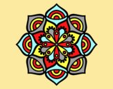 Coloring page Mandala exponential growth painted byLornaAnia