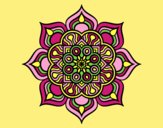 Coloring page Mandala flower of fire painted byLornaAnia