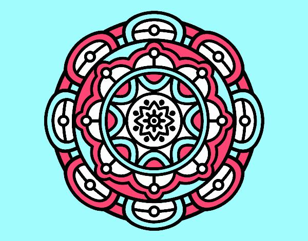 Mandala for mental relaxation