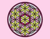 Coloring page Mandala lifebloom painted byLornaAnia