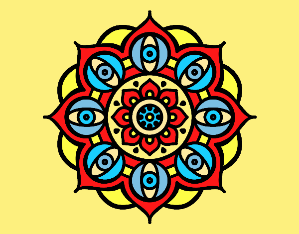 Mandala open eyes