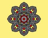 Coloring page Arabian mandala painted byLornaAnia
