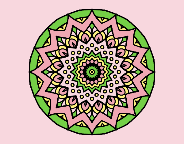 Coloring page Growing mandala painted byLornaAnia