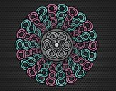 Coloring page Mandala braided painted byLornaAnia