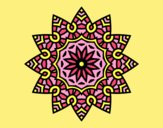 Coloring page Mandala flowery star painted byLornaAnia