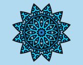 Coloring page Mandala star painted byLornaAnia