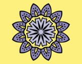 Coloring page Mandala with petals painted byLornaAnia