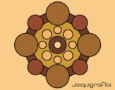 Coloring page Mandala with round painted byLornaAnia