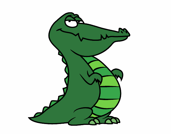 Coloring page An alligator painted byjkoochie