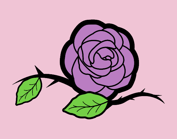 Coloring page A beautiful rose painted byLornaAnia