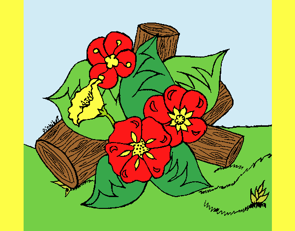 Coloring page Flowers I painted byLornaAnia