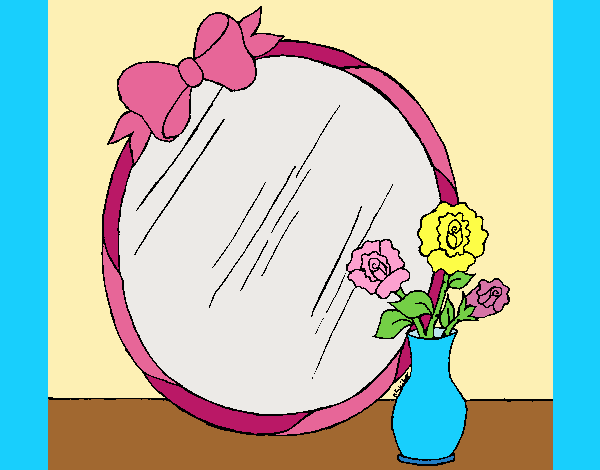 Coloring page Mirror painted byLornaAnia