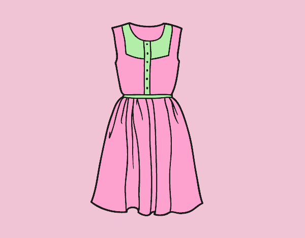Coloring page Summer dress painted byLornaAnia