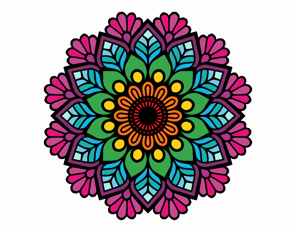 Colored page Spring mandala painted by User not registered