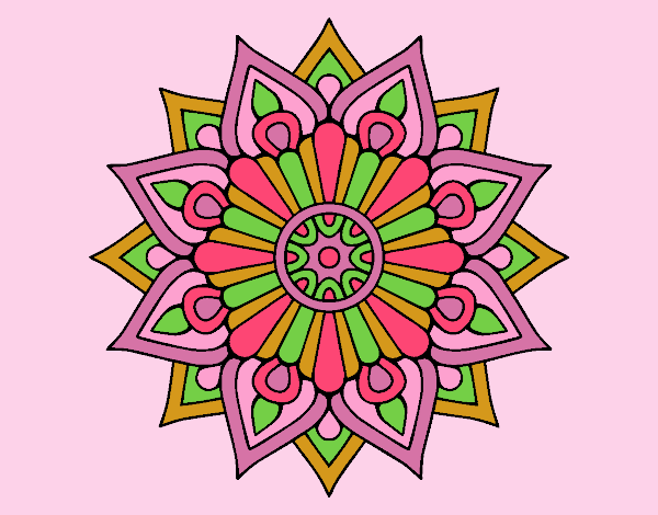 Coloring page A floral flash mandala painted byLornaAnia