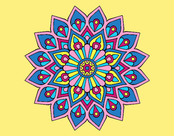 Coloring page Increasing flash mandala painted byLornaAnia
