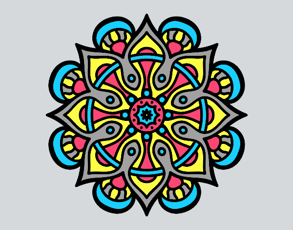 Coloring page Mandala arab world painted byLornaAnia