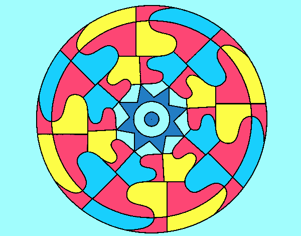 Coloring page Mandala 31 painted byLornaAnia